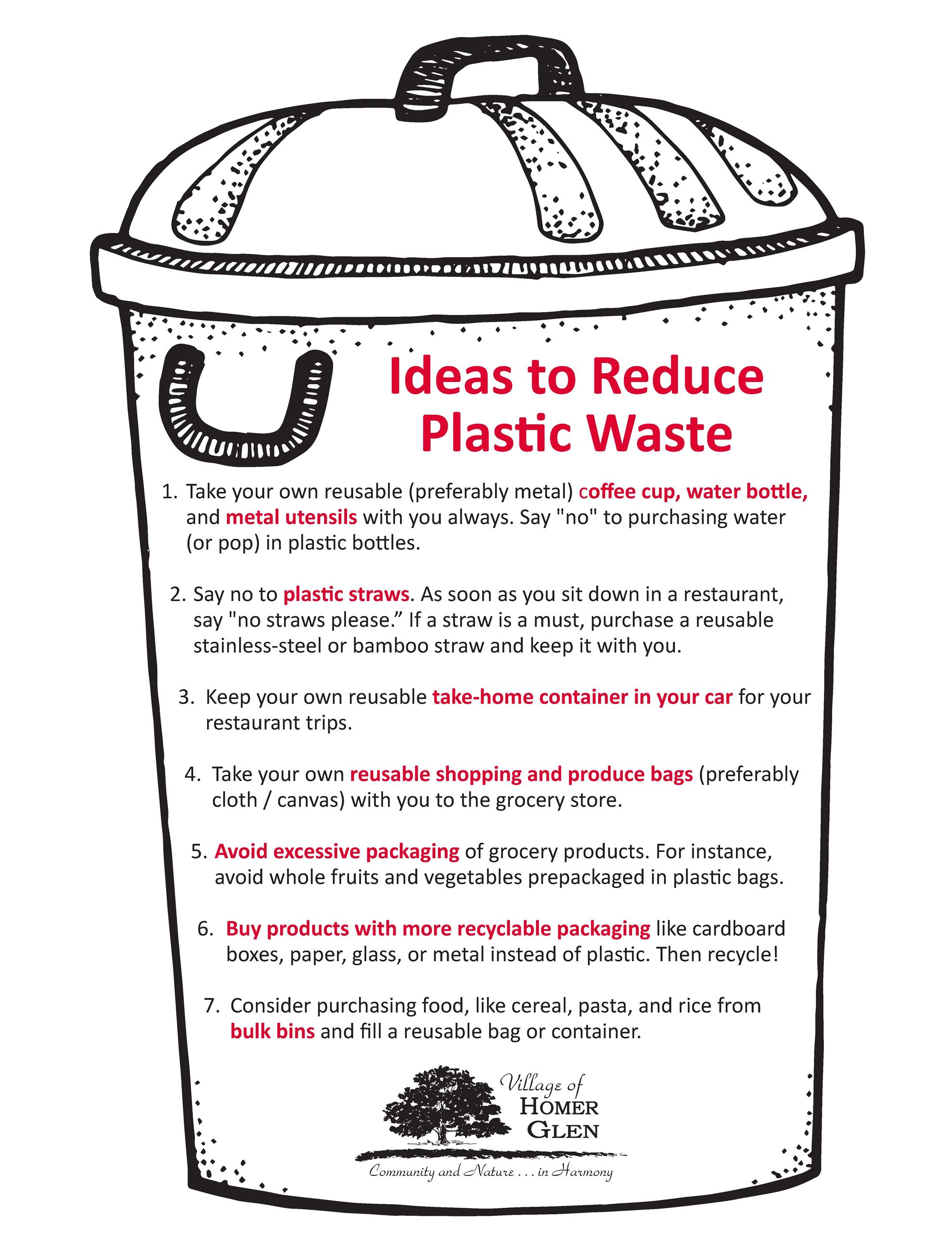 Ideas to Reduce Plastic Waste
