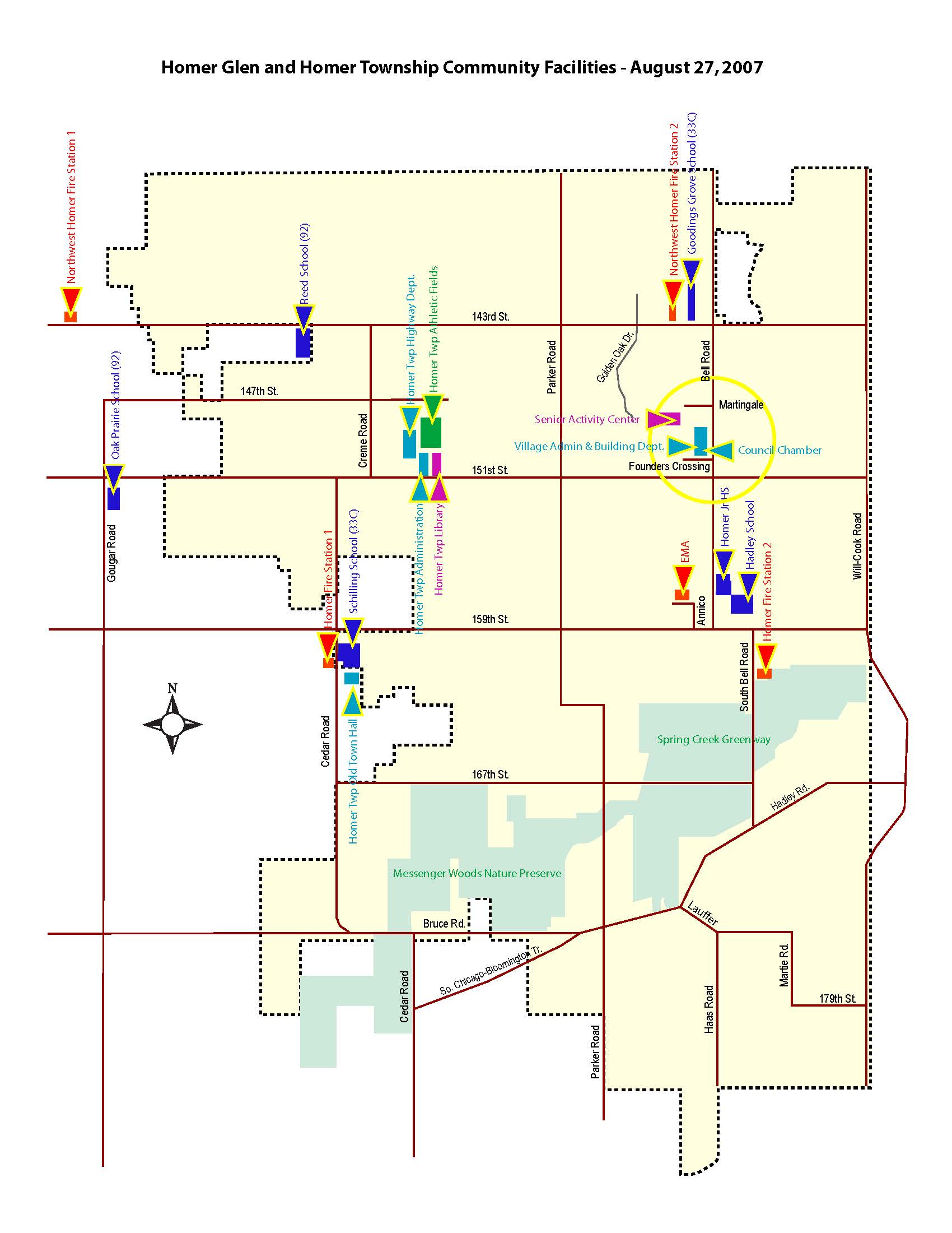 Homer Area Community Facilities Map
