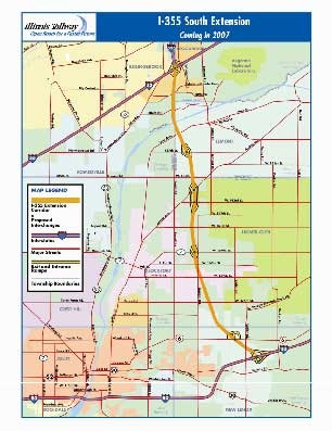 I-355 Tollway Extension Map